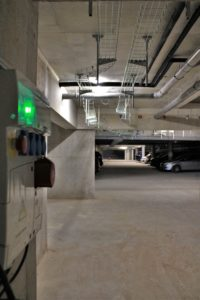 tableau electricite chemin de cable parking